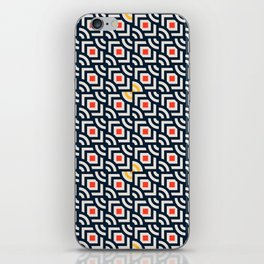 Round Pegs Square Pegs Navy Blue iPhone Skin