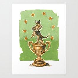 Dog Trophy 2 Art Print