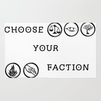 divergent Area & Throw Rugs featuring Divergent - Choose your faction by Lunil