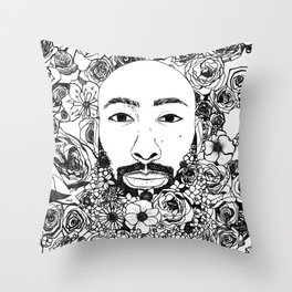 PHOENIX AND THE FLOWER GIRL PHOENIX TROY FLOWER PRINT Throw Pillow