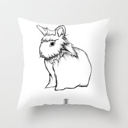 Boss Rabbit Throw Pillow