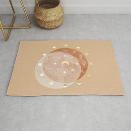 Zodiac Wheel Moon Rug