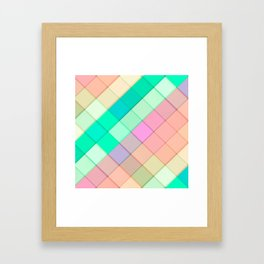 Simple Colorful Pastel Tiles Framed Art Print