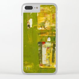 Iodine Green Abstract Art Modern Print Clear iPhone Case