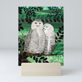 Snowy Owls Mini Art Print