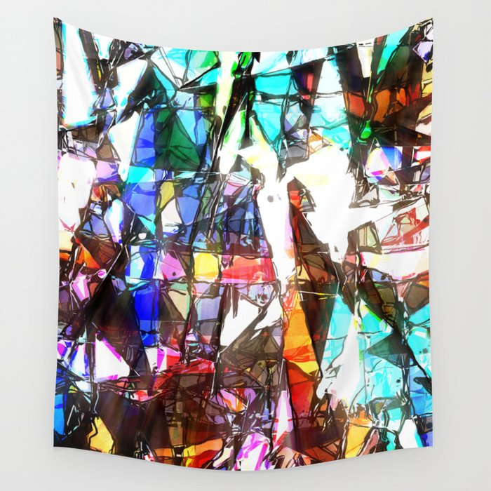 Light Streaming Through Stained Glass Wall Tapestry