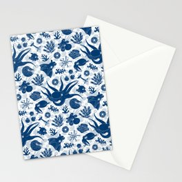 Cephalopods: Grunge Stationery Cards