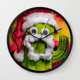 Chester the Christmas Cactus Wall Clock