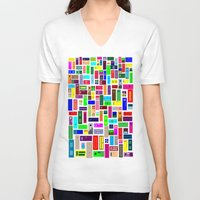 doors V-neck T-shirts featuring Doors - White by Finlay McNevin