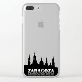 La Basílica del Pilar de Zaragoza Clear iPhone Case