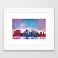 manhattan Framed Art Prints featuring Manhattan by Esco