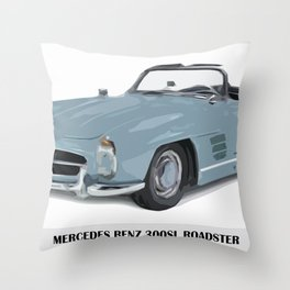Classic 300SL vintage car Throw Pillow