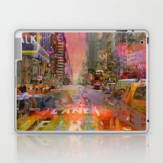 traffic jam pink Laptop & iPad Skin