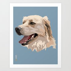 Golden Retriever Dog Art Print