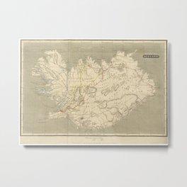 Vintage Map of Iceland (1819) Metal Print