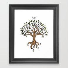 Shirley's Tree Colored Framed Art Print