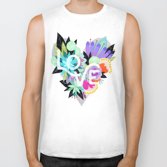 Love Blooms - Rainbow Biker Tank