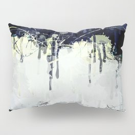 Modern Indigo Eclipse Abstract Design Pillow Sham