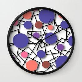 olumetric multi-colored circles   Wall Clock