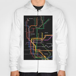 New York City subway map Hoody