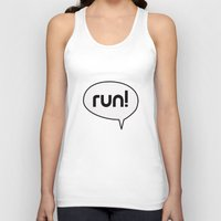 run Tank Tops featuring run by Mimy