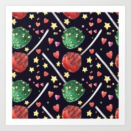 Fantastic cozy sweet cake pops Art Print