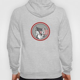 American Cavalry Soldier Blowing Bugle Circle Hoody