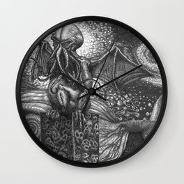 They Had Come From The Stars (...and had brought Their images with Them) Wall Clock