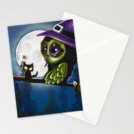 owl witch Stationery Cards
