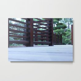 Zigzag Bridge Metal Print