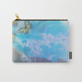 planet surfing - blue butterflies Carry-All Pouch