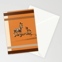 Butterscotch Stripes Stationery Cards