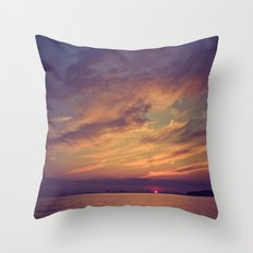 End of Day Over Biloxi Throw Pillow