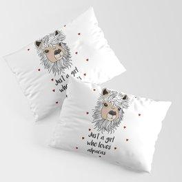 alpaca girl Llama Love Present Gift Pillow Sham
