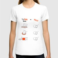 youtube T-shirts featuring Youtube Cats vs Reality by The Blue Colibri