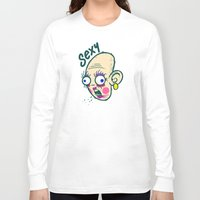 makeup Long Sleeve T-shirts featuring Sexy Makeup by Artistic Dyslexia