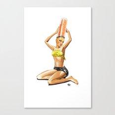 Pin up Girl — We like BIG Br… Canvas Print