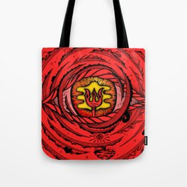 Eye of an Incarnation Red Tote Bag