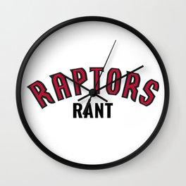 Raps Rant Merch Wall Clock