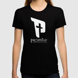 promise logo white T-shirt