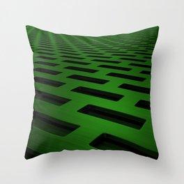 Rectangular metal grate Throw Pillow