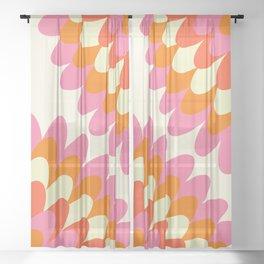 Dahlia at 60's Sheer Curtain