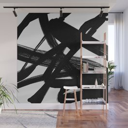 Shadow Flight - Abstract Paint Wall Mural