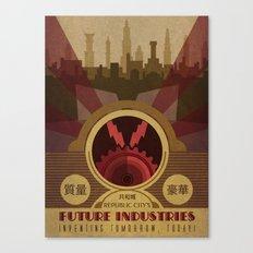 Future Industries Advertisement Canvas Print