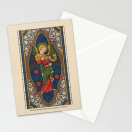 Stained Glass Angel from Temple Church London 1400 Stationery Cards