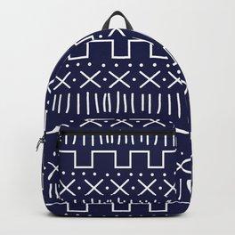 Navy Mud Cloth Backpack