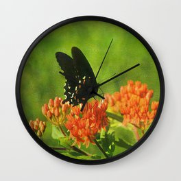 Asclepias tuberosa  (Butterfly Weed) Wall Clock