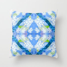 Water Rays Throw Pillow