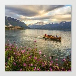 Lake Geneva and Alps, Montreux, Switzerland Canvas Print