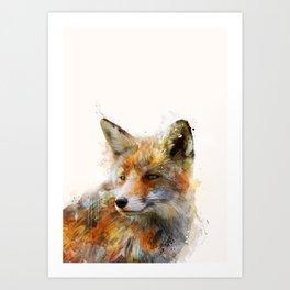 The cunning Fox Art Print